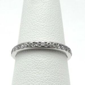 Art Deco Style Platinum 1ctw Diamond Eternity Wedding Band Ring