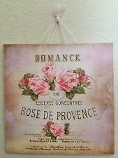 Vintage Paris Shabby Romance Rose Sign Wall Decor Plaque French Country Chic