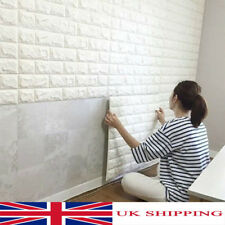 10PC 3D Wallpaper Stone Brick Wall Sticker Panel Thick Soft PE Foam Wall Cover