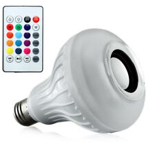 Wireless Smart E27 RGB Speaker LED Bulb Light Music Playing Remote Control Lamp