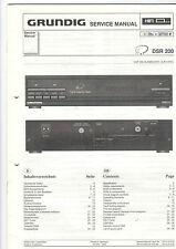 Grundig Service Anleitung Manual DSR 200   B384