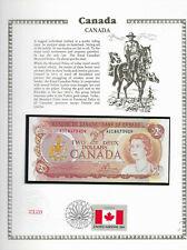 Canada 2 Dollars 1974 P 86a UNC w/FDI UN FLAG STAMP  Prefix AGE