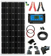 150W Solar Panel Mono 12V Kit Full Mounting Brackets for Caravans Boat Motorhome