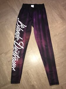 Blonde Destroyer - Gym Yoga Pants - Spandex Lycra Leggings - Low Waist - Size S