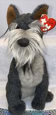 "Ty Classic Max the Schnauzer Dog Plush Gray Stuffed Animal Soft 2000 Puppy 12"""