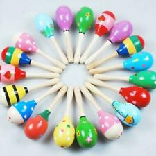 More details for 10/20x musical educational toys wooden toy for baby kids maracas rattles shaker