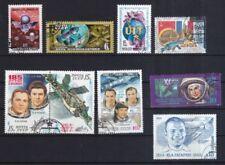 Echte Briefmarken mit Raumfahrt-Motiven aus der Sowjetunion