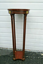 Mahogany Brass Accents Vintage Flower Plant Statue Stand by Baker 1058BX