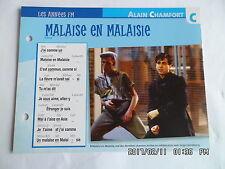 CARTE FICHE PLAISIR DE CHANTER ALAIN CHAMFORT MALAISE EN MALAISIE