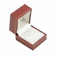 Jewellers Wholesale Ring Boxes 10 Red Leatherette Jewellery Ring Gift Boxes