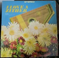 Rudi Knabl I Love A Zither LP rare Stereo TS 1009 Tempo Records an Alshire Prod.