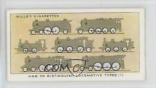 1938 Wills Railway Equipment 21 How To Distinguish Locomotive Types (1) Card 1t5