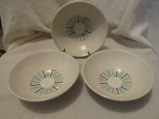 Three Vintage Knowles China Modern Classic Four Seasons Cereal Bowls