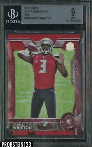 2015 Topps 60th Anniversary Red Jameis Winston RC Rookie 21/60 BGS 9 POP 2
