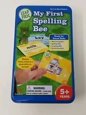 Leap Frog My First Spelling Bee in Collectible Storage Tin Ages 5 & up Game