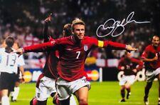 "SALE - David Beckham - ENGLAND 12x8"" Signed Photo With CoA"