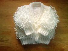 Handmade Hand Crocheted Baby Girl Loopy Cardigan 100% Acrylic  various colours
