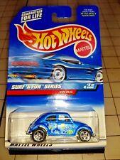 Hot Wheels 1999 Volkswagen Beetle #962 Surf 'N Fun Blue
