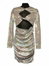 iridescent fitted dress