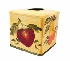 Tuscany Mixed Fruit Delux Ceramic Tissue Box Cover, 88487