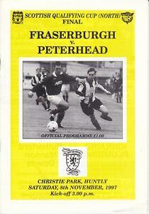 Scottish Qualifying Cup North Fraserburgh v Peterhead 8 Nov 1997