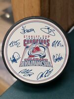 1995-96 STANLEY CUP CHAMPION COLORADO AVALANCHE BURGER KING HOCKEY FOTOPUCK LOT