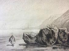 Henri Grenaud marée basse Boulogne sur mer pointe sèche Cadart - Luce 1876 XIX e