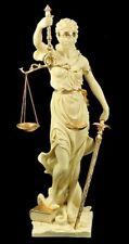 Justitia Statue 75 cm Large XL - creme-goldfarben Veronese Figurine Quite