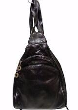 Perlina Backpack Sling Shoulder Bag Black Leather Gold Hardware Excellent!