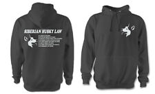 More details for sled dog spirit funny siberian husky law hoody huskies paw sibes personalised