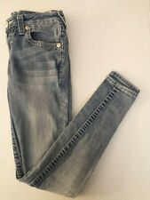 True Religion Girls Jeans Size 12 Skinny Medium Wash Distressed Youth Jeans