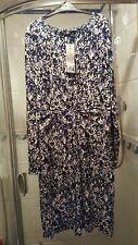 Ladies George at Asda Blue / White Dress size 18 BNWT