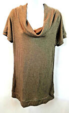 Rue 21 Women's Cowl Neck Sweater/Tunic Top Short Sleeve Stretch Size 1X New