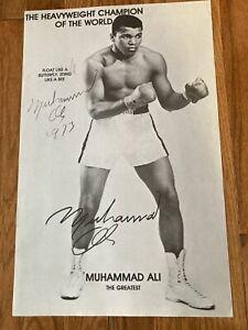 Muhammad Ali Signed 11x17 Boxing Photo Autographed Poster BAS LOA Huge Sig Rare