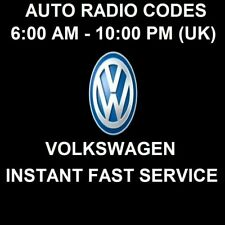 VOLKSWAGEN CAR RADIO UNLOCK CODE - FAST SERVICE
