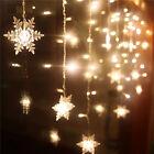 20 LED Snowflake Fairy String Curtain Window Light Christmas Wedding Party Decor