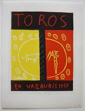 Pablo Picasso Toros en Vallauris1955 Orig Lithografie Maitres de l'Ecole 1959