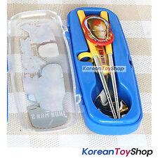 Marvel Iron Man Stainless Steel Spoon, Training Chopsticks Case Set BPA Free