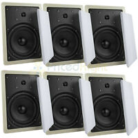 "6 Pack 6.5"" 2 Way In Wall Speakers 50W Rms Home Theater Mtx Audio Musica602W"
