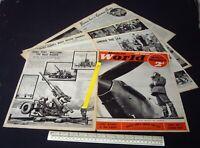 Vickers 3.7 inch AA Gun. Home Front WW2 Modern World Magazine 1940. (814)