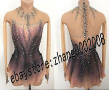 Stylish Ice skating dress.Competition Figure Skating Dress.Twirling Dance Custom