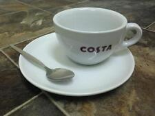 Costa Coffee Cup With Handle With Saucer And Spoon Primo Mug 275ml New