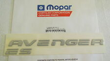 "New OEM Silver Dodge ""AVENGER ES"" Nameplate Emblem Letter Kit Badge MR729717"