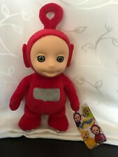 """11"""" Red PO The Teletubbies Soft Plush Talking Toy by Characters New Press Tummy"""