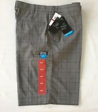 PGA Tour Men's Golf Shorts NWT Expandable Waistband Plaid Size 34