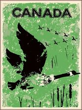 Canada Canadian Goose Vintage Canada Travel Wall Decor Art Poster Print