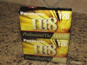 2-Pack Panasonic Hi8 MP 120 8mm Camcorder Video Tapes