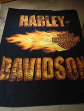 "Harley Davidson Wall Hanger Blanket/Towel @68"" x 48"" one sided"