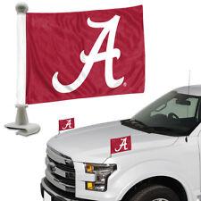 Alabama Crimson Tide Set of 2 Ambassador Style Car Flags - Trunk Hood