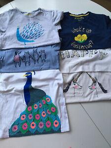 6 Mini Boden Johnnie B Girls Bundle 9-10 Years Short Sleeve T-shirts Tops